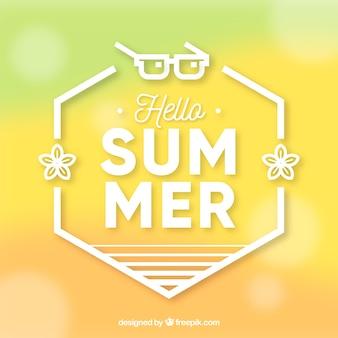 こんにちは夏、ぼやけた背景