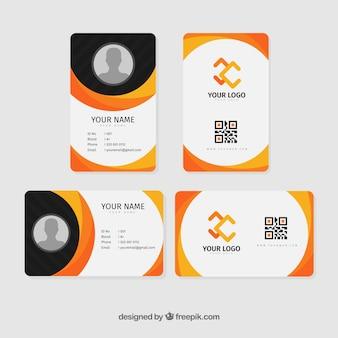 Шаблон идентификационной карточки