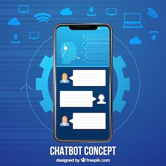 チャットボットのコンセプト背景
