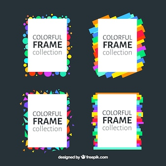 Плоская разноцветная коллекция рам