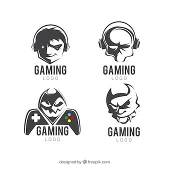 フラットデザインのゲーム用ロゴコレクション