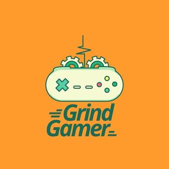 Шаблон логотипа видеоигры с современным стилем