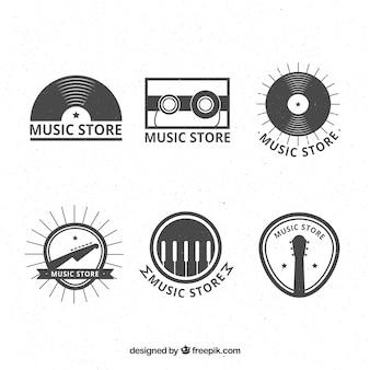 Коллекция логотипов магазина в стиле винтаж