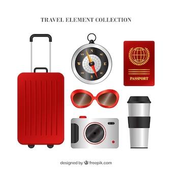 Коллекция элементов путешествия