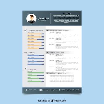 Современный шаблон учебного плана с плоским дизайном