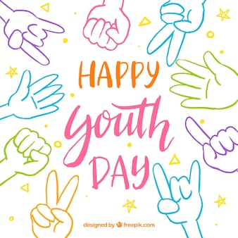 Фон дня молодежи