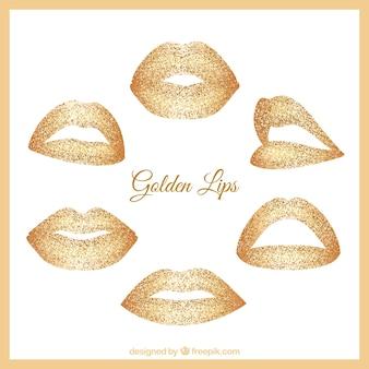 ゴールデンカラーの唇のコレクション