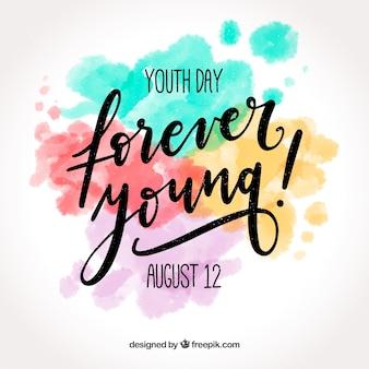 若者の日の背景