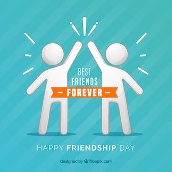 人々との友情の日の背景