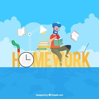 宿題の単語の概念