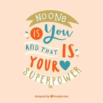 Мотивационная цитата с рисованным стилем