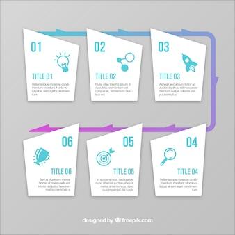フラットデザインによる詳細なビジネスタイムライン