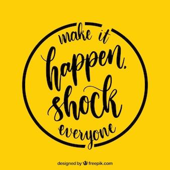 Современная мотивационная цитата желтого цвета
