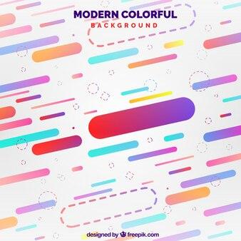 Абстрактный фон с красочными фигурами