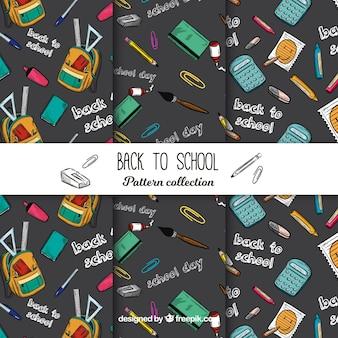 学校パターンコレクションに戻る黒