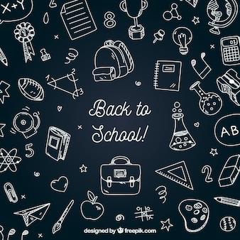 黒板スタイルの学校のバックグラウンド
