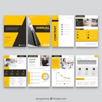 Дизайн годового отчета в плоском стиле