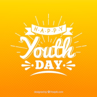Праздничный день молодежи с надписью
