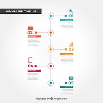 Концепция инфографической временной шкалы