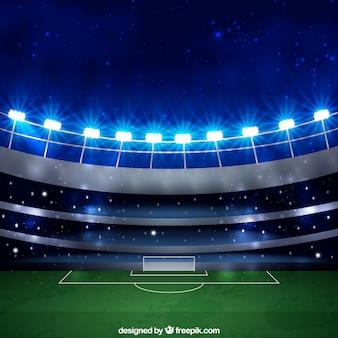 現実的なスタイルのサッカースタジアムの背景