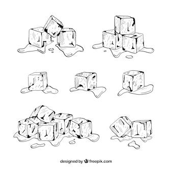 手描きアイスキューブコレクション