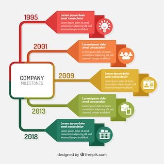 Концепция красочной инфографической графики