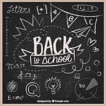 黒板に学校の背景に戻る