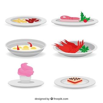 Сбор блюд с различными продуктами питания