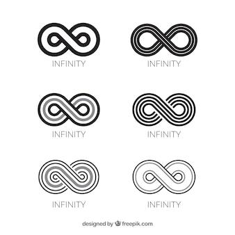Коллекция символов черного бесконечности