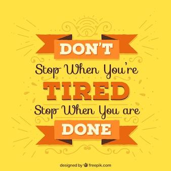 Мотивационная цитата с типографикой