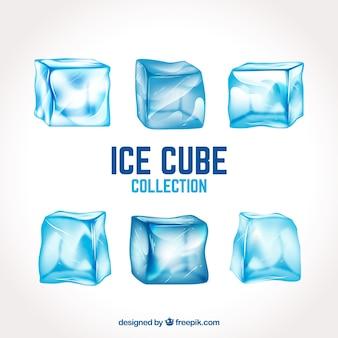 Реалистичная коллекция кубиков льда