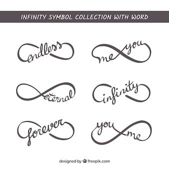 Символ бесконечности с набором слов