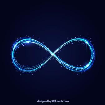 Символ бесконечности со светящимся эффектом