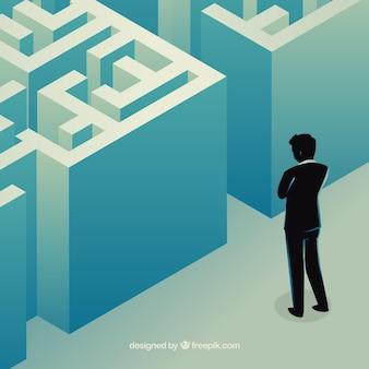 迷路を持つビジネスコンセプト