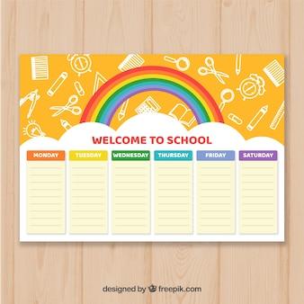 創造的な学校の時刻表