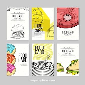 Сбор карточек с различными продуктами питания