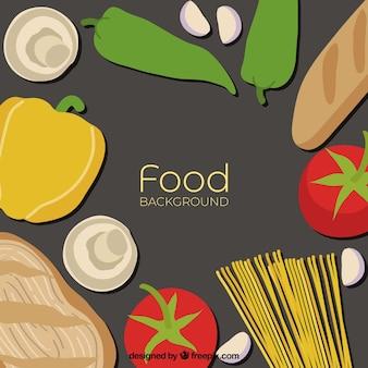 野菜とフードの背景