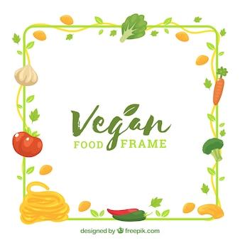 野菜とフードフレーム