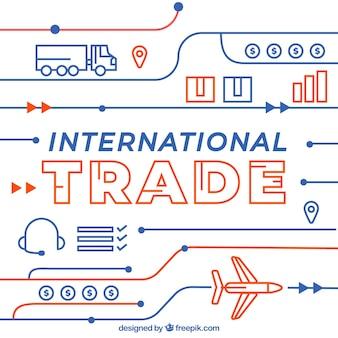 Современная концепция международной торговли с плоской конструкцией