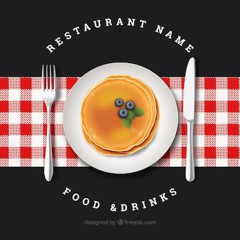エレガントなレストラン構成