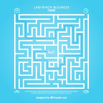 平らな迷路を持つビジネスコンセプト