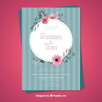 結婚記念日カード招待状