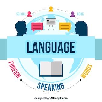 フラットデザインの言語概念