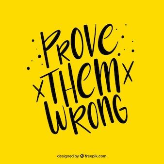 モチベーションは黄色で背景を引用する