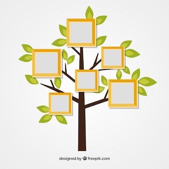 Шаблон фотоколлажа с плоским деревом