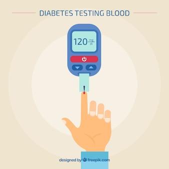 Диабетический анализ крови с плоской конструкцией