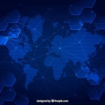 ブロックマップの背景と世界地図