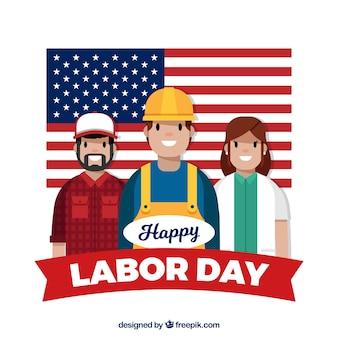 Американский состав рабочего дня с плоской конструкцией