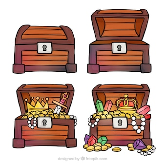 手描きの宝箱コレクション