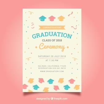 Элегантный шаблон приглашения на выпускной шаблон